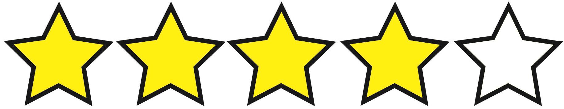 Risultati immagini per 4 stelle su cinque