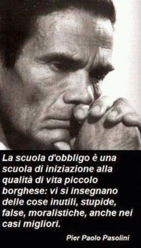 Pier Paolo Pasolini e le sue impressioni sulla scuola italiana