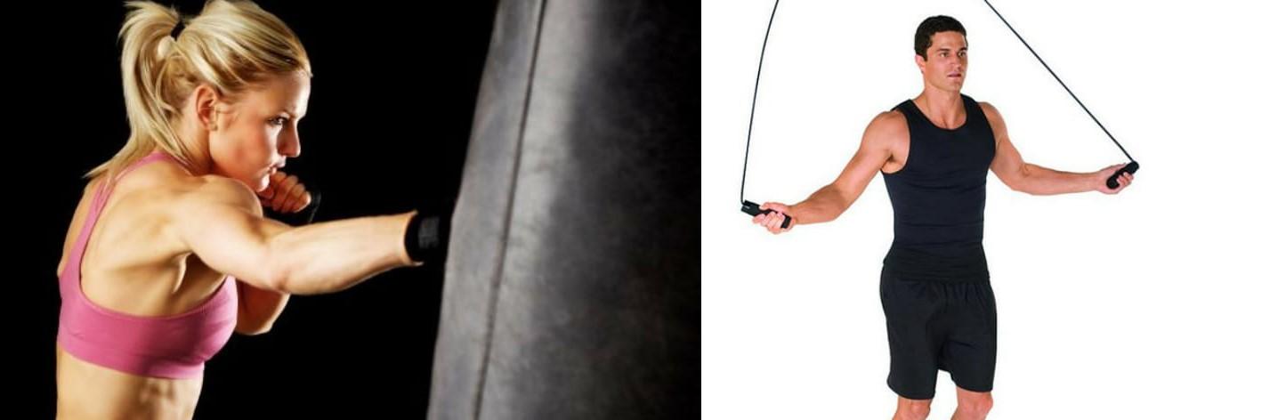 Allenamenti al sacco + salti con le corde